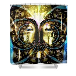 Buddha Blue Mandala Shower Curtain