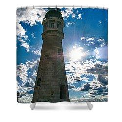 Buffalo Lighthouse 15717c Shower Curtain by Guy Whiteley