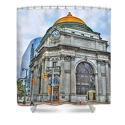 Shower Curtain featuring the photograph Buffalo Savings Bank  Goldome  M And T Bank Branch by Michael Frank Jr