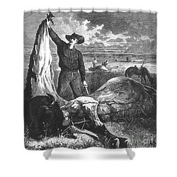 Buffalo Skinner, 1874 Shower Curtain by Photo Researchers
