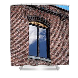Shower Curtain featuring the photograph Building Series - Sky Views by Kathleen Grace