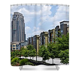 Buildings In Downtown Area Shower Curtain