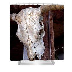 Bull Skull Shower Curtain