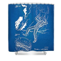 Bulletproof Patent Artwork 1968 Figures 16 To 17 Shower Curtain by Nikki Marie Smith