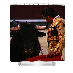 Bullfight Madrid Shower Curtain