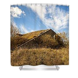 Bunker Down Shower Curtain by CJ Schmit