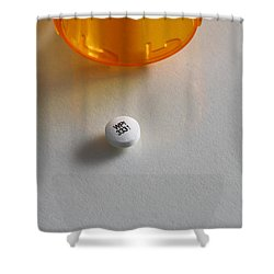 Bupropion Hydrochloride Shower Curtain by Photo Researchers, Inc.