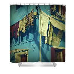 Burano - Laundry Shower Curtain by Joana Kruse