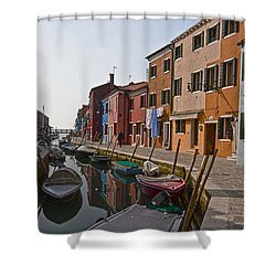 Burano - Venice - Italy Shower Curtain by Joana Kruse