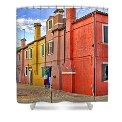 Burano 2 Shower Curtain by Mauro Celotti