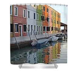 Shower Curtain featuring the photograph Burano Canal by Rebecca Margraf