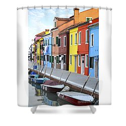 Shower Curtain featuring the photograph Burano Italy 2 by Rebecca Margraf