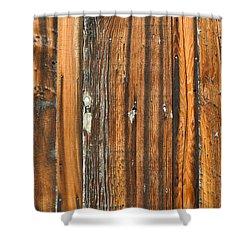 Burned Wood Grunge Background Shower Curtain