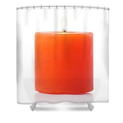 Burning Red Candle Shower Curtain by Atiketta Sangasaeng