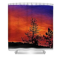Shower Curtain featuring the photograph Burning Sunrise by Janie Johnson