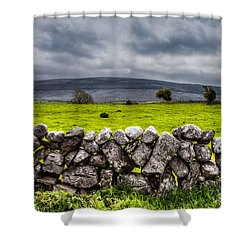 Burren Stones Shower Curtain
