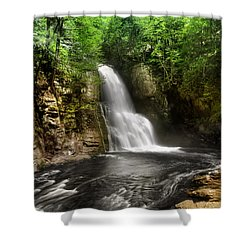 Bushkill Waterfalls Shower Curtain by Yhun Suarez