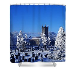 Bushmills Church, County Antrim Shower Curtain by The Irish Image Collection