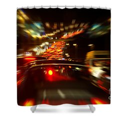 Busy Highway Shower Curtain by Carlos Caetano