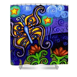 Butterfly At Dusk Shower Curtain by Genevieve Esson