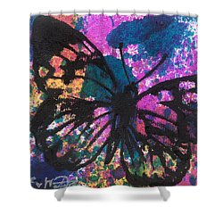 Butterfly Bliss Shower Curtain by Oddball Art Co by Lizzy Love