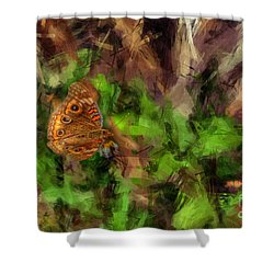 Shower Curtain featuring the photograph Butterfly Camouflage by Dan Friend