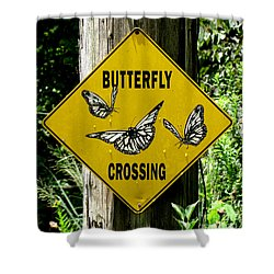 Butterfly Crossing Shower Curtain