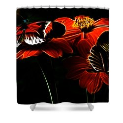 Butterfly Duet Shower Curtain