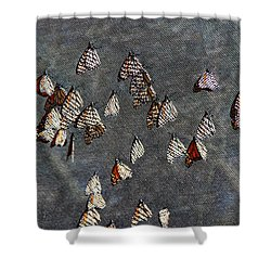 Shower Curtain featuring the photograph Butterfly Gathering by Tam Ryan