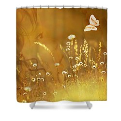 Butterfly Kiss Shower Curtain by Torie Tiffany