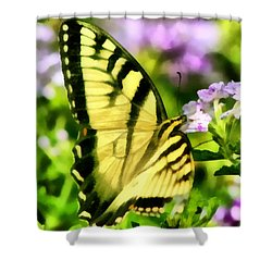 Shower Curtain featuring the painting Butterfly by Lynne Jenkins
