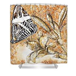 Butterfly Mosaic 02 Elena Yakubovich Shower Curtain by Elena Yakubovich