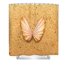 Butterfly Sea Shell Shower Curtain