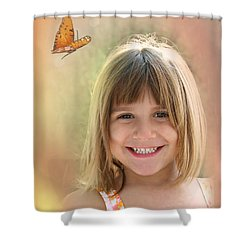 Butterfly Smile Shower Curtain