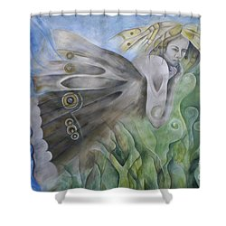 Butterfly Woman Costa Rica Shower Curtain by Bob Christopher