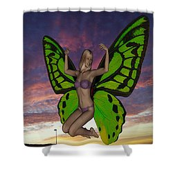 Butterfly Woman Shower Curtain by Matthew Lacey
