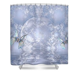 Butterfly World Shower Curtain by Elaine Manley