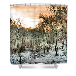 By Dawn's Early Light Shower Curtain by Kristin Elmquist