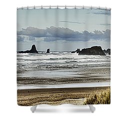By The Sea - Seaside Oregon State  Shower Curtain