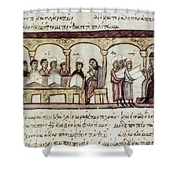 Byzantine Philosophy School Shower Curtain by Granger