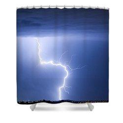C2g Lightning Strike Shower Curtain by James BO  Insogna
