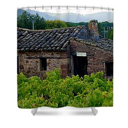 Cabanon Shower Curtain by Lainie Wrightson
