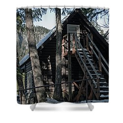 Shower Curtain featuring the photograph Cabin Get Away by Tikvah's Hope