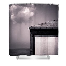 Cabin With Cloud Shower Curtain by Silvia Ganora