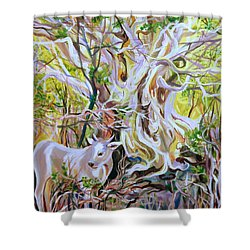 Cactus-tree Shower Curtain