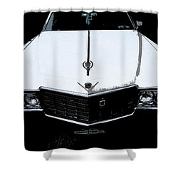 Shower Curtain featuring the photograph Cadillac Pimp Mobile by Kym Backland