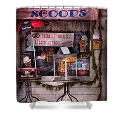 Cafe - Clinton Nj - The Luncheonette  Shower Curtain by Mike Savad