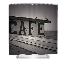 Cafe On The Pier Shower Curtain