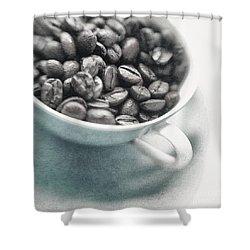 Caffeine Shower Curtain by Priska Wettstein