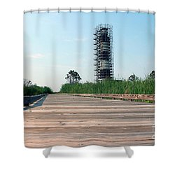 Shower Curtain featuring the photograph Caged Beauty 1 by Tony Cooper